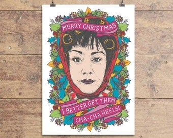 Divine - John Waters - Female Trouble - Dawn Davenport - Cha Cha Heels - Funny Christmas Greeting Card