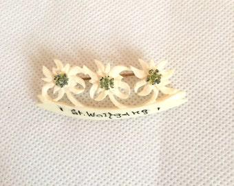 1930s edelweiss souvenir brooch