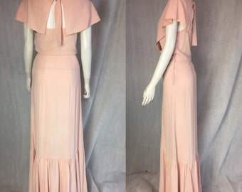 SALE! 1930s caped evening gown