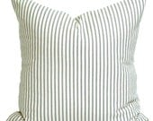 Ticking Stripe Pillow Covers, French Ticking Decorative Pillow, Charcoal Throw Pillow, Cushion, All Sizes,Euro Sham,cm, Charcoal Gray Grey