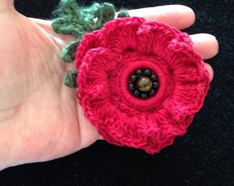 Red Poppy Pin