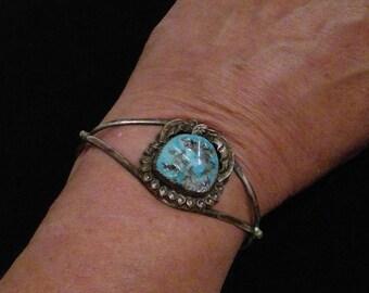 Signed Turquoise Bracelet