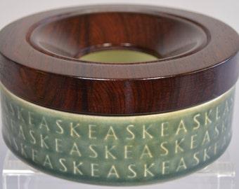 1 Jens Quistgaard lidded ashtray jar AZUR stoneware rosewood lid  Kronjyden Nissen mid century