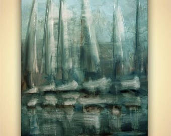 Canvas Print - Stretched, Embellished & Ready-to-Hang  - The Bay - Art by Osnat