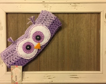 Owl crochet headwrap, photo prop