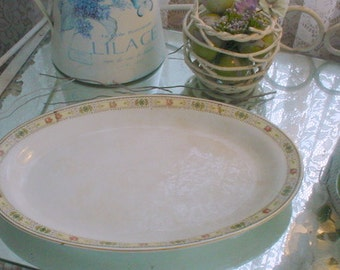 Homer Laughlin Platter Small China Porcelain Vintage 1920's
