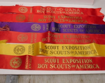 Vintage 1960s Boy Scout Exposition Ribbons Boy Scout Of American BSA