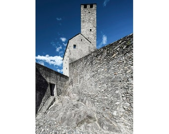 the Torre Bianca, Bellinzona — limited edition archival print