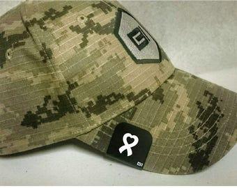 Brim-It Hat Clip- Heart Support Ribbon