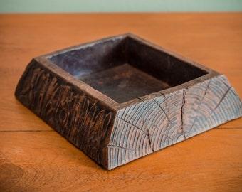 Durwood, Faux Wood, Log, Vintage, Key Holder, Change Holder, Hall Table Essential, 1960s, Genuine, Log Home, Home Decor, Cute