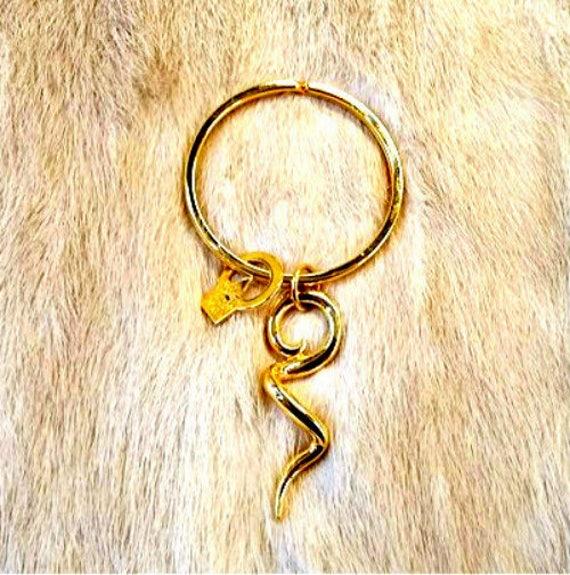 89027724b0 Vtg ANNE KLEIN 12 K Gold Plated Key Chain -Rare -Lion Trademark Patent #
