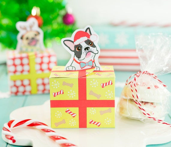 Printable Christmas Puppy Dog Gift Boxes, DIY Christmas