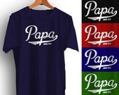 PAPA T-Shirt Personalized with year Father's Day Christmas Gift Many Colors S-4XL Since Established