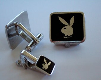 Playboy Bunny Cufflinks & Tie Clip Collectible Memorabilia Just for him Fierce Gifts For Men Hot Gifts for Him Gift for Husband Gift for Dad