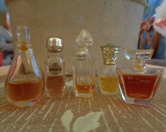 Vintage Perfumes 5 Mini Bottles Jessica McClintock Givenchy Poeme Ysatis