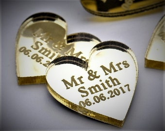 15 Personalized Heart Wedding Table Centerpieces