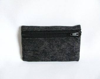 Small pouch- Two tone grey cotton