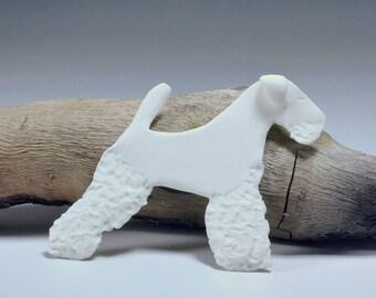 Unique Welsh Terrier Porcelain Gift Tag