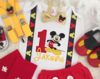 Personalised Mickey mouse birthday Top