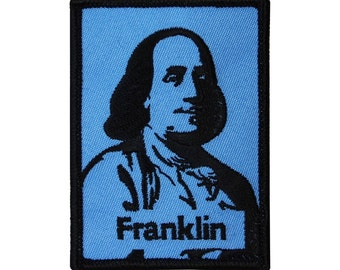 "Benjamin ""Franklin"" Founding Father Craft Patch Famous American Iron-On Applique"