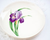 Two Small Plates, Ballerina Iris Pattern, Bread and Butter Plates Permacal