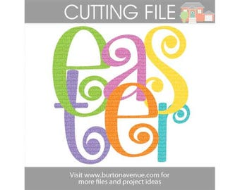 Easter cut file for Cricut, Silhouette, Instant Download (eps, svg, gsd, dxf, ai, jpg, and png)