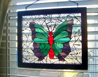 Mosaic stain glass Butterfly