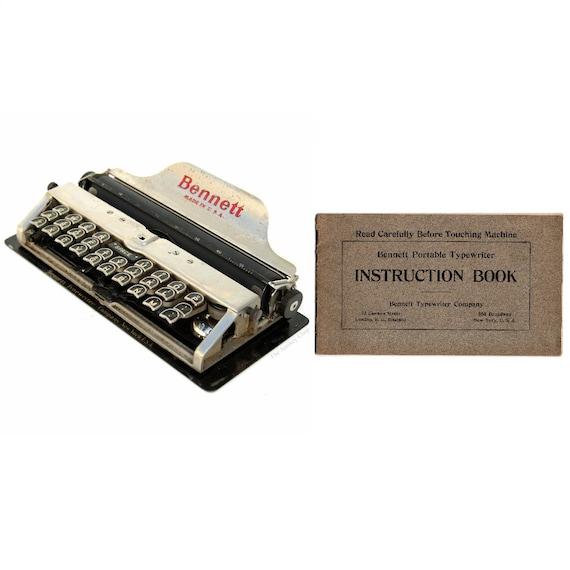 Bennett Typewriter Instruction Manual Instant Download