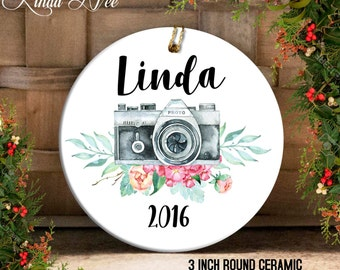Personalized Photographer Camera Photography Ornament, Gift for Photographer Camera Ornament, Christmas Gift Idea, Christmas Gift Swap OCH47