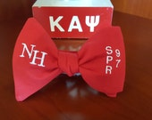 Chapter Bowties of Kappa Alpha Psi Fraternity, Inc. Freestyle or Pre-tied BowTieByEDJ - Red