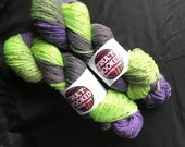 Goosebumps hand dyed sock yarn