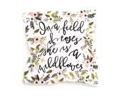 Lovey Wildflower Blanket Blush Sprigs and Blooms. Lovey. Floral Lovey. Blush Lovey. Mini Baby Blanket. Security Blanket. Lovie. Minky Lovey.