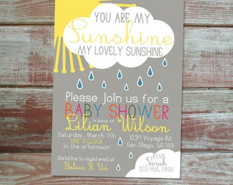 You are my sunshine baby shower Etsy