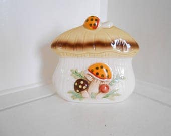 70s Napkin Holder / Letter Holder / Orange / Brown / Mushroom / Sears and Roebuck