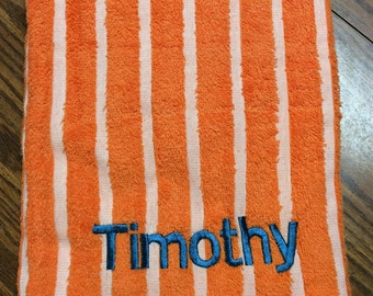 Timothy Beach Towel, Personalized Beach Towel, Monogrammed Beach Towel, Personalized Towel Monogrammed Towel Gift for Timothy Crafting4Caleb
