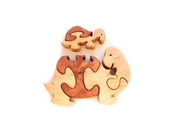 Wooden Puzzles Turtles. Wooden toys, wooden animal puzzle, eco-friendly handmade toys for babies, children, kids, boys and girls