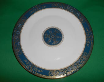 """One (1), 10 5/8"""", Bone China, Dinner Plate, from Royal Doulton, in the Carlyle H 5018 Pattern."""