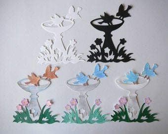 Bird Bath Die Cut For Scrapbook & Card Embellishments