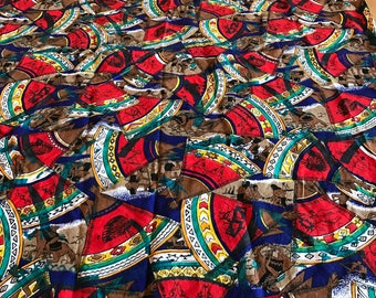 Interesting well made cotton fabric/material. Native American pattern