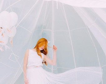 Bridal Skirt made of tulle with dots