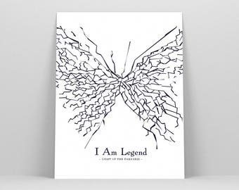 I Am Legend ~ Movie Poster, Film Gift, Art Print by Christopher Conner