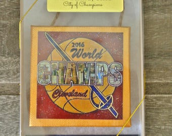 CLEVELAND CAVALIERS CHAMPIONSHIP - Limited Edition 2016 Boxed Ornament