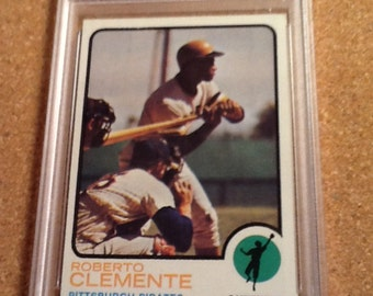 1973 topps #50 roberto clemente psa 5 ex baseball card pittsburgh pirates