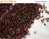 Boxing Week Sale DB-1685, Miyuki Delica Beads, 11/0, Silver-Lined Glazed Dark Cranberry - 2 grams or, choose a Larger Pkg from the 'Select a