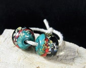 Handmade Lampwork Beads - Earring Pairs ~ Organic Kicking it Southwest-Southwest-Boho-Lampies