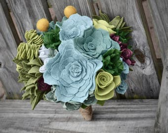 Felt Succulent Bouquet - Custom / Made to Order