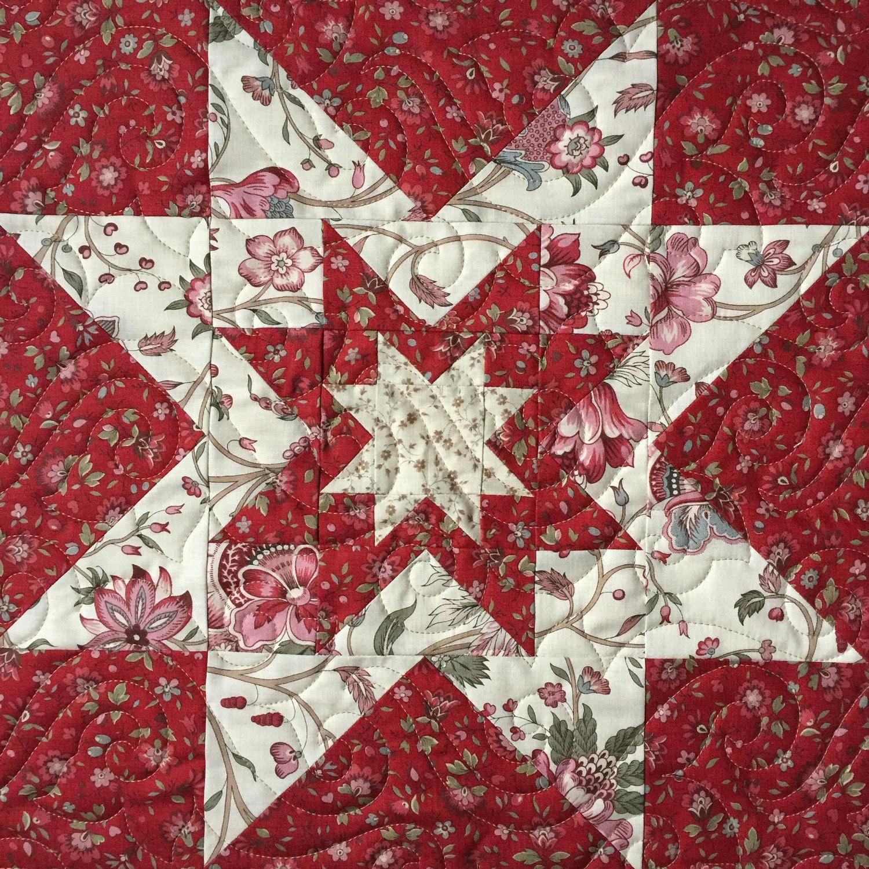 NEW Pattern!  Triple Star Block by Heather Spence