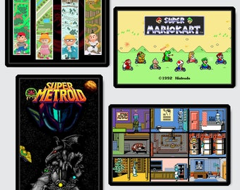 Video Game Art Print - Pick Any 4 in the shop - Nintendo Tribute