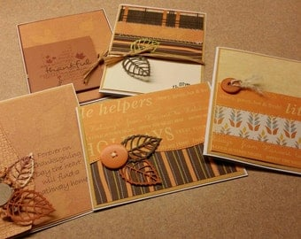 Set of 5 Thanksgiving  and Fall Cards