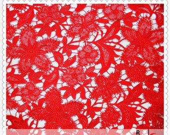 red guipure Lace Fabric, green venise Lace Fabric , Maple lace fabric ON SALE